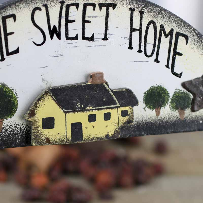 Primitive Home Sweet Home Wood Sign  Wall Art  Primitive Decor