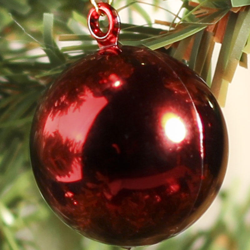 Miniature Shiny Metallic Christmas Ball Ornaments