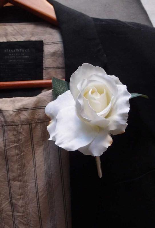 Silk Rose Boutonniere Lapel Pins  CorsageBoutonniere Supplies  Floral Supplies  Craft Supplies