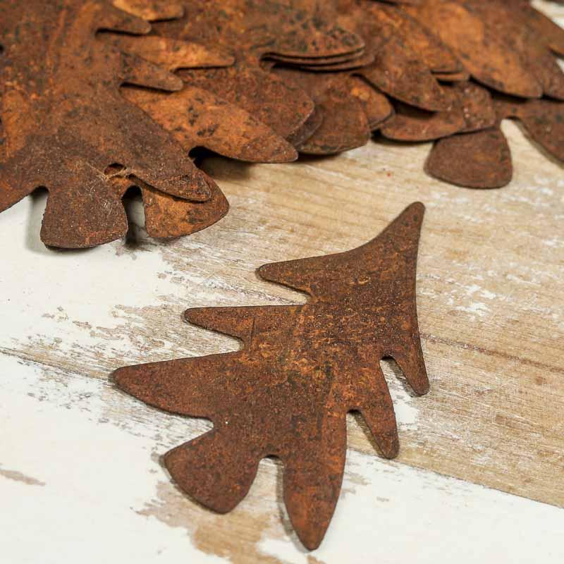 Small Rusty Tin Tree Cutouts Rusty Tin Cutouts Rusty