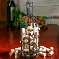Wire Wine Bottle Cork Holder - Kitchen and Bath - Home Decor