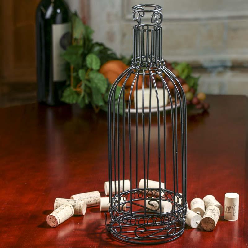Wire Wine Bottle Cork Holder  Kitchen and Bath  Home Decor