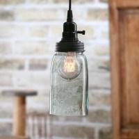 Mason Jar Pendant Lamp Kit - Mason Jar Pendant Light Kit ...