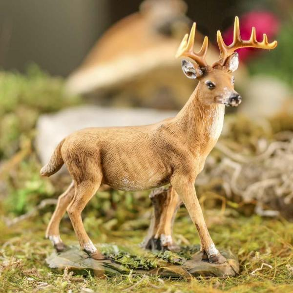 Miniature Buck Deer Figurine - Table Decor Home