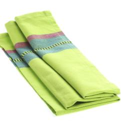 Bridal Shower Invitations Kitchen Theme Who Makes The Best Cabinets Lime Green Dobby Striped Cloth Dish Towel - Towels ...