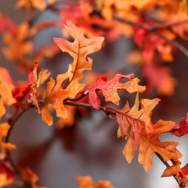 Artificial Autumn Oak Leaf Wired Garland  Garlands  Floral Supplies  Craft Supplies