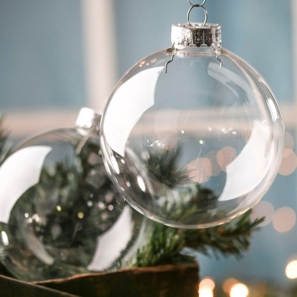 Mm Ready-personalize Clear Glass Ball Ornaments - Christmas And