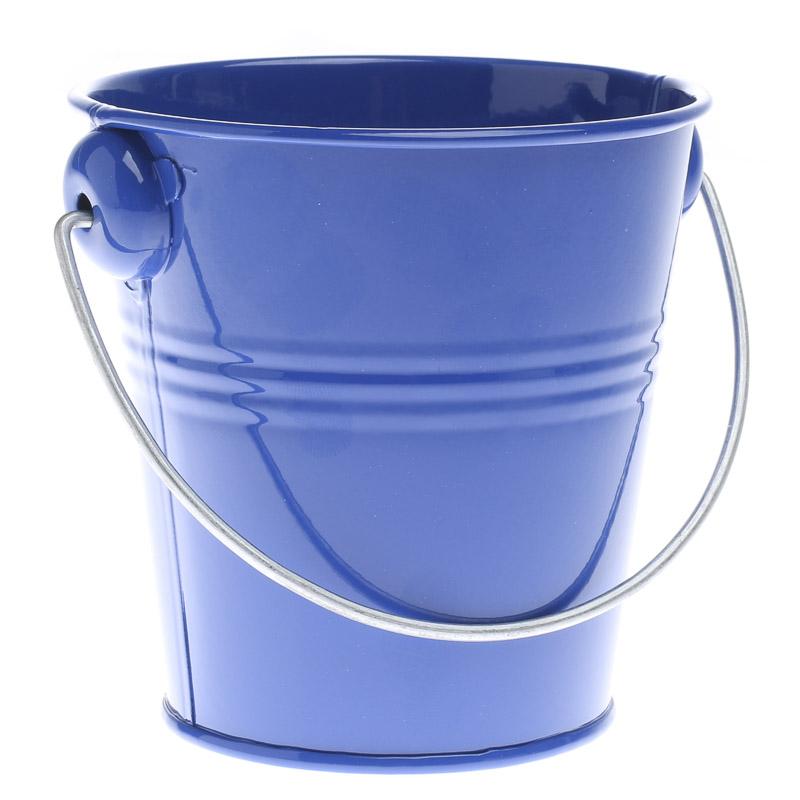 Royal Blue Metal Pail Baskets Buckets Amp Boxes Home Decor