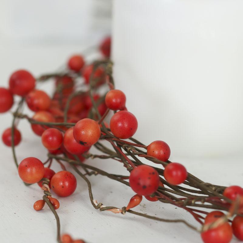Rustic Orange Artificial Berry Vine Garland  Garlands