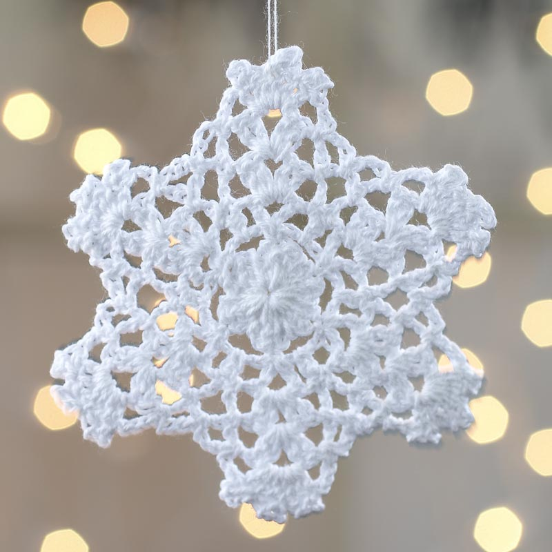 Crocheted Doily Snowflake Ornament Christmas Ornaments