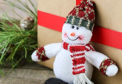 Plush Snowman Ornament On Sale Holiday Crafts