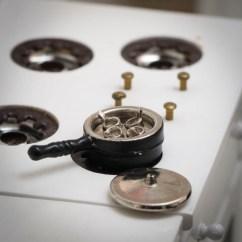 3 Piece Kitchen Table John Boos Islands Dollhouse Miniature Saucepan - Miniatures ...