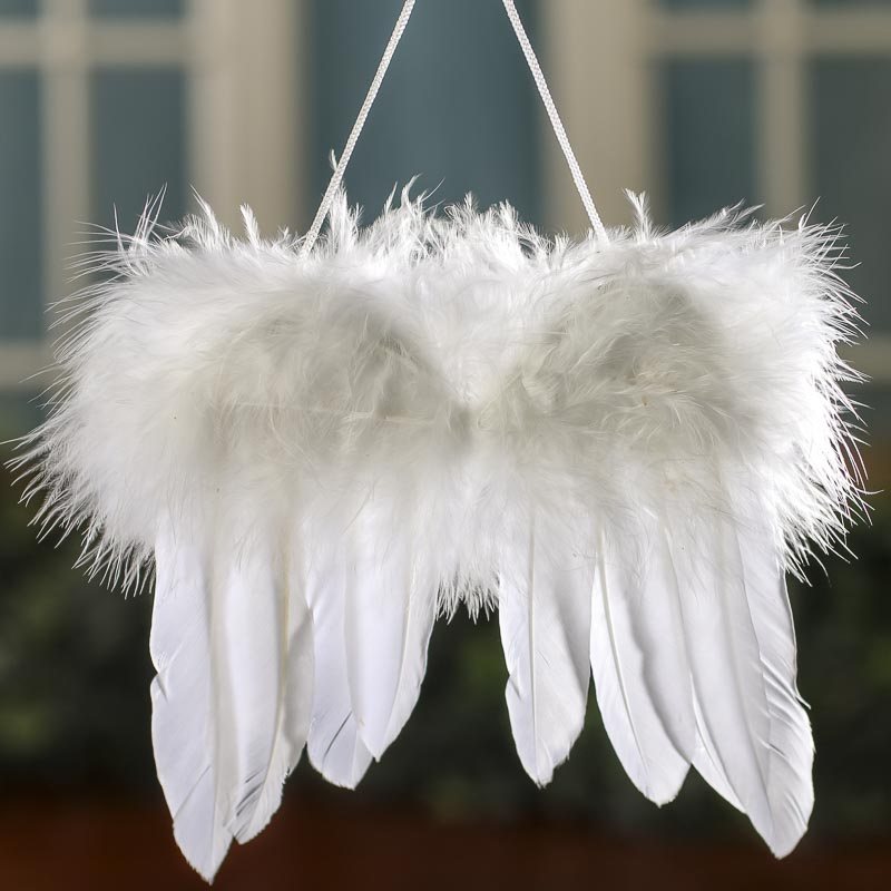 White Feathered Angel Wings  Angel Wings  Doll Supplies
