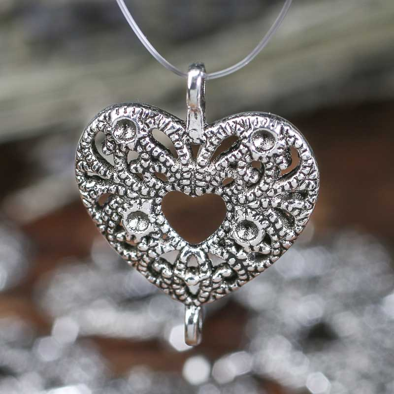 Silver Metal Heart Charms  Jewelry Charms  Jewelry
