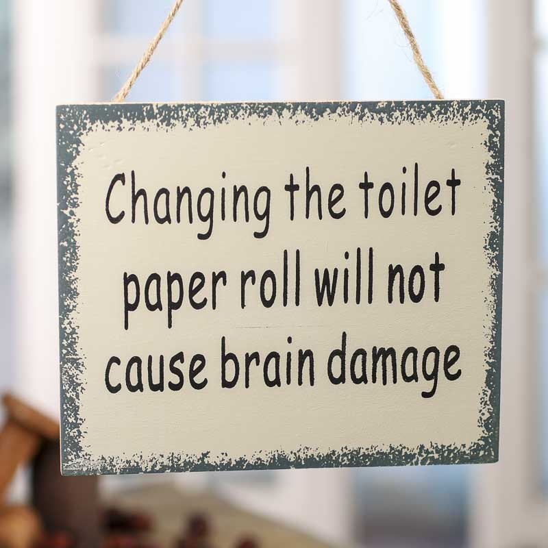 Changing the Toilet Paper Roll Sign Magnet  Signs