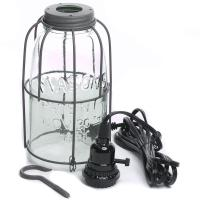 Large Mason Jar Pendant Lamp Kit - Lighting - Primitive Decor