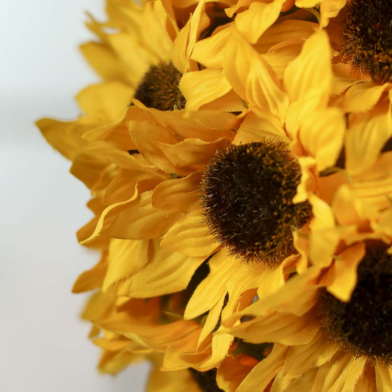 Artificial Sunflower Kissing Ball  Fall Florals  Fall