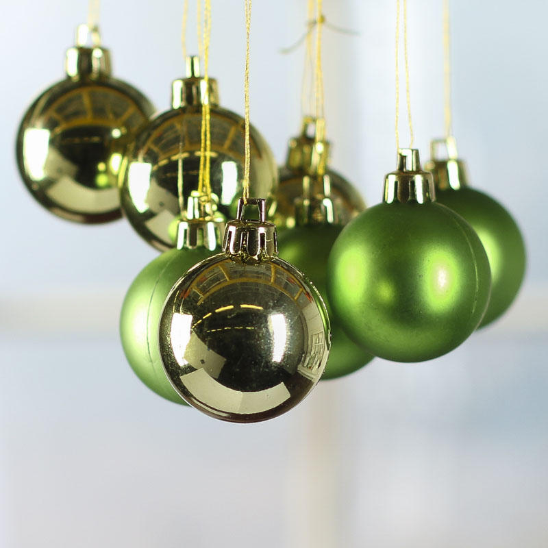 Small Green Christmas Ball Ornaments Christmas Ornaments