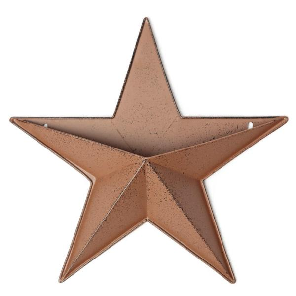 Rustic Barn Star Wall Pocket - Stars Primitive Decor