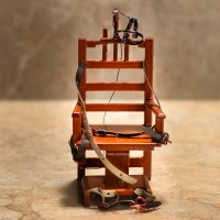 "Dollhouse Miniature ""Old Sparky"" Electric Chair - Table ..."