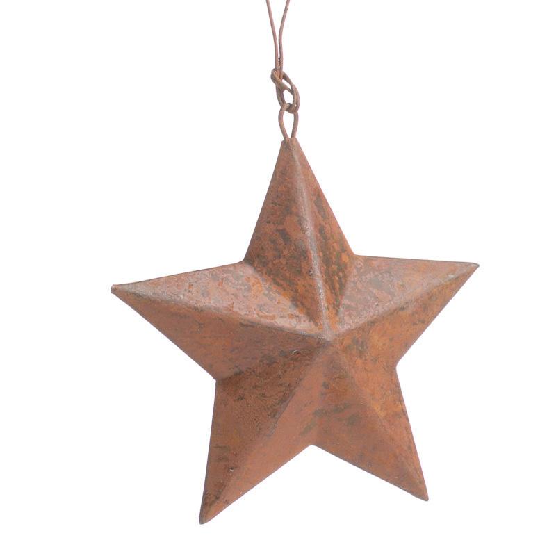 Small Rusty Tin Barn Star Ornament Christmas Ornaments