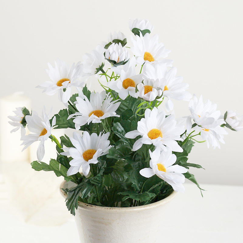 White Artificial Daisy Bush  Bushes and Bouquets  Floral Supplies  Craft Supplies