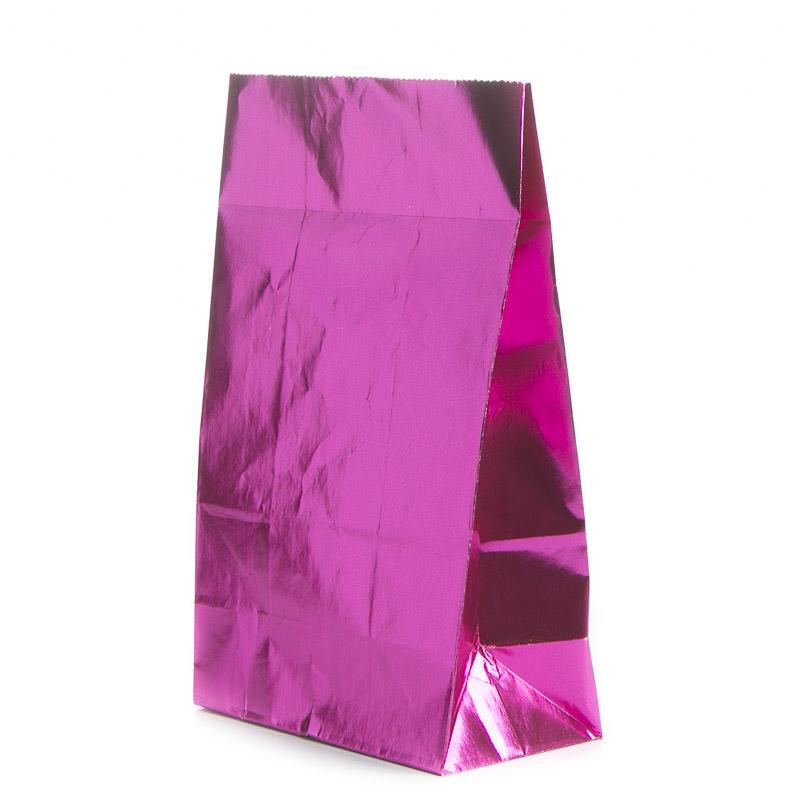 Hot Pink Metallic Paper Gift Bag Gift Bags Favor Bags
