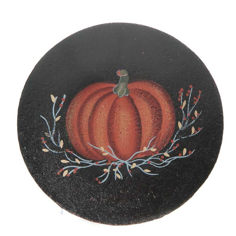 Primitive Fall Pumpkin Wood Plate  Decorative Plates and Bowls  Primitive Decor