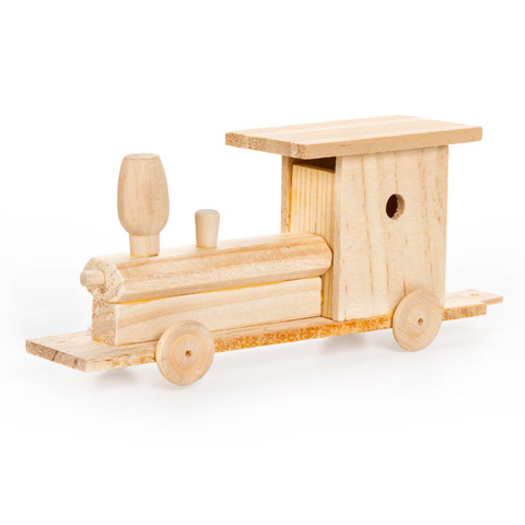 Wooden Model Train Kit Activity Kits Kids Crafts Craft Supplies Factory Direct Craft