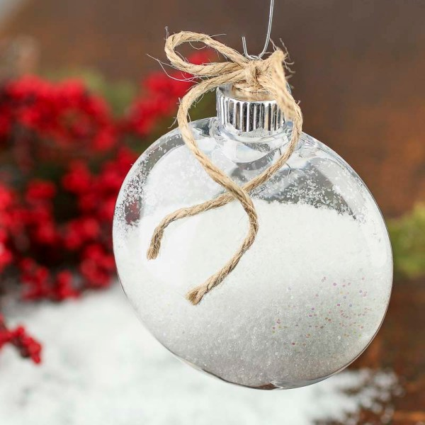 Mm Clear Plastic Disk Ornament - Acrylic Fillable