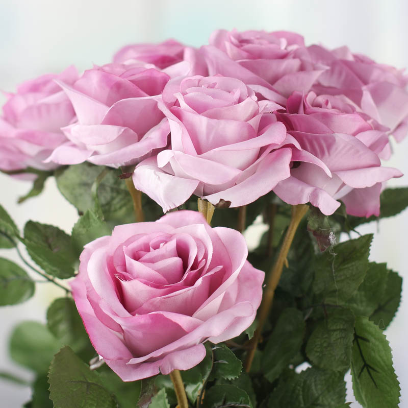 Lavender Artificial Long Stem Roses  Picks and Stems
