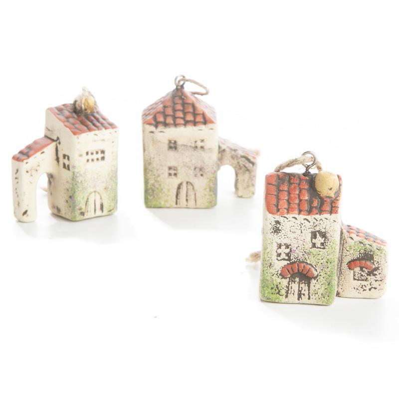 Miniature Ceramic Italian Village Ornament Christmas