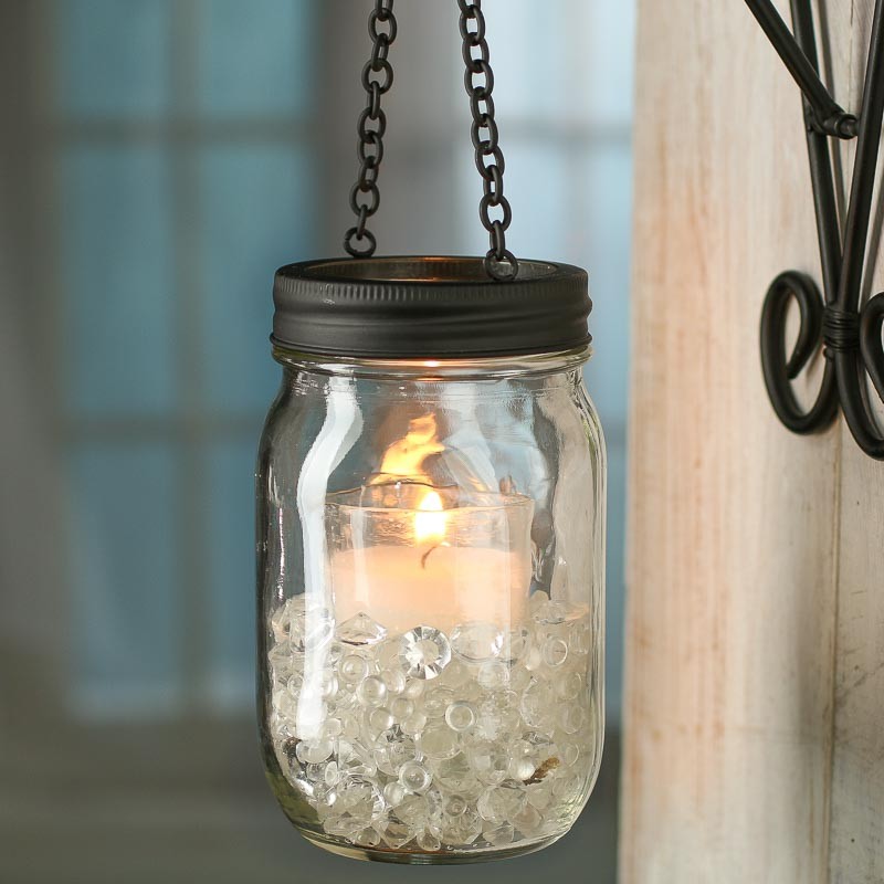 Black Candle Lantern Mason Jar Lid  Jar Lids  Basic Craft Supplies  Craft Supplies