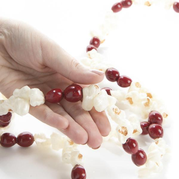 Artificial Popcorn And Cranberry Garland - Christmas