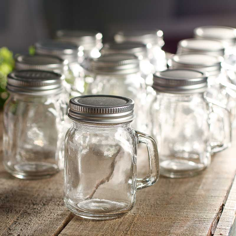Small Clear Glass Mason Jar Mugs  Gift Bags  Favor Bags  Party Supplies  Party  Special