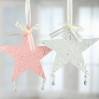 Shabby Chic Embossed Tin Star Ornament - Christmas ...