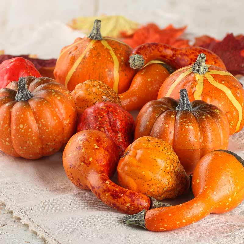 Artificial Pumpkins And Gourds Vase And Bowl Fillers Home Decor Factory Direct Craft