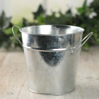 Galvanized Metal Bucket Planter - Baskets, Buckets ...