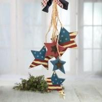 Primitive Americana Star Door Hanger - Wall Art ...