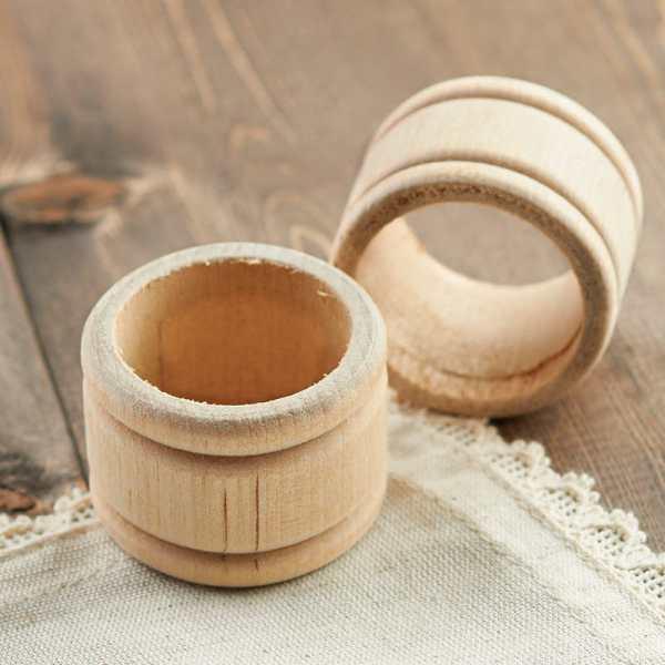 Unfinished Wood Napkin Rings
