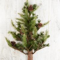 Realistic Wall Mounted Artificial Pine Tree - Christmas ...