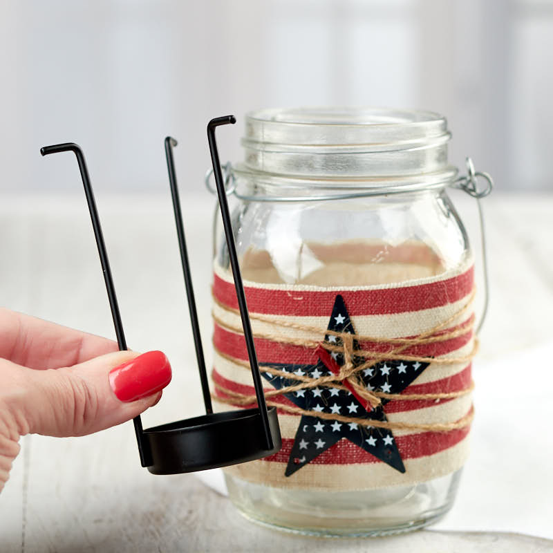 Americana Mason Jar Tealight Candle Holder  Americana