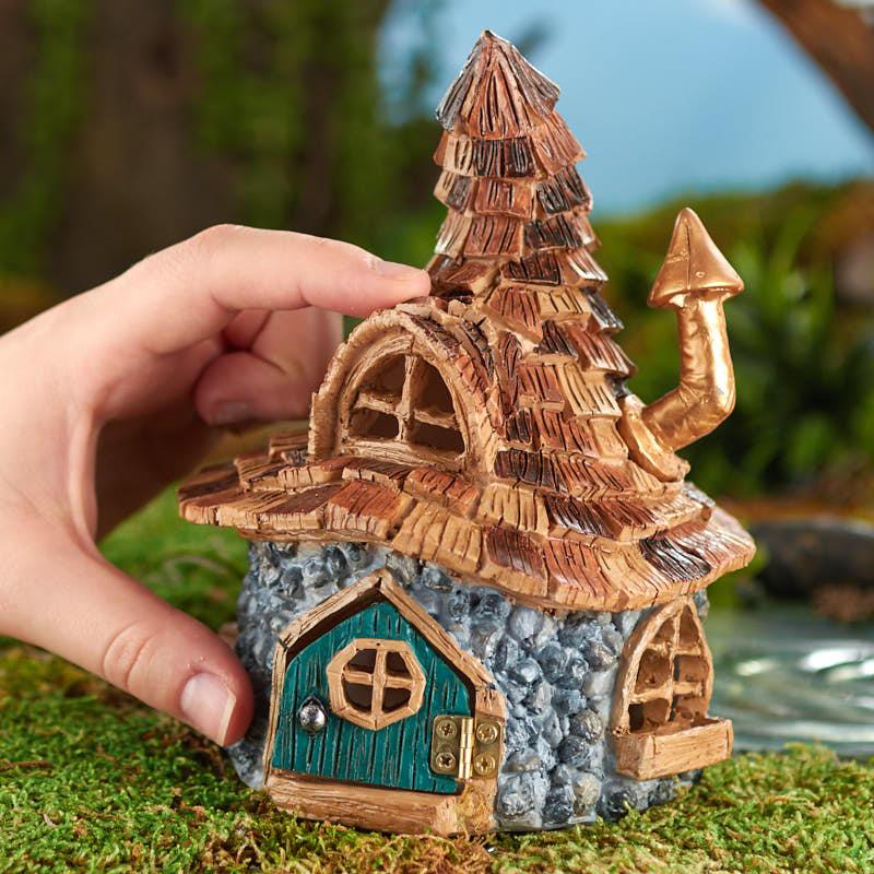 Miniature Shingletown Troll House  Fairy Garden Supplies