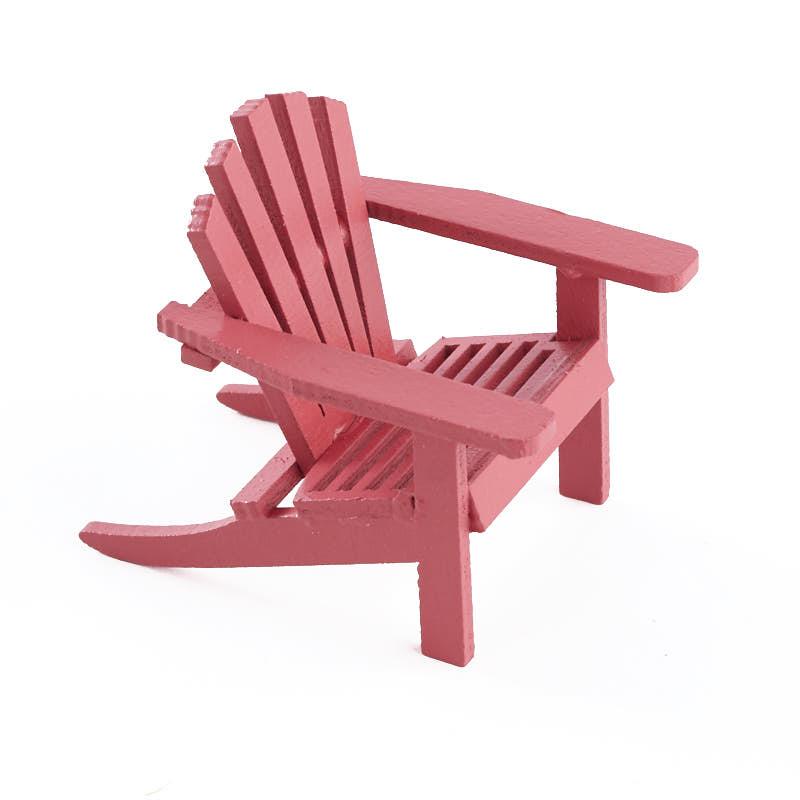 Miniature Red Adirondack Chair  Fairy Garden Miniatures
