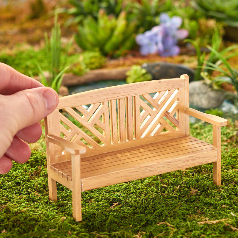 Dollhouse Miniature Garden Bench Fairy Garden Miniatures
