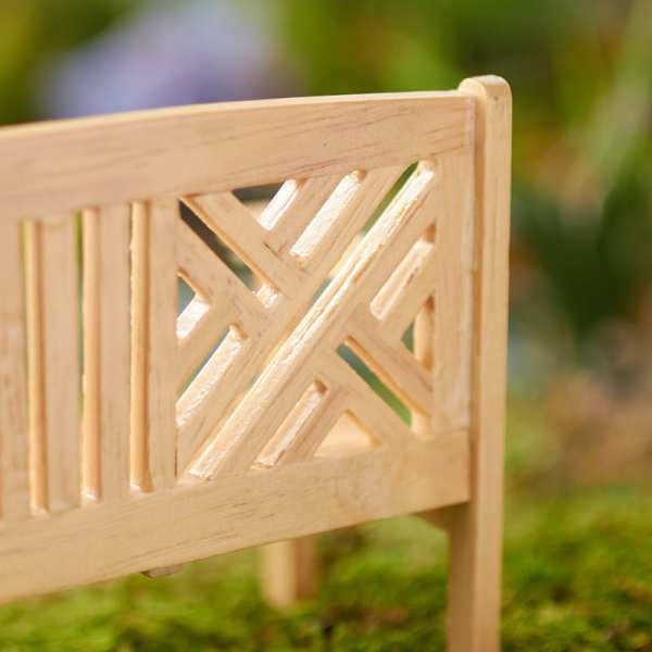 dollhouse miniature garden bench