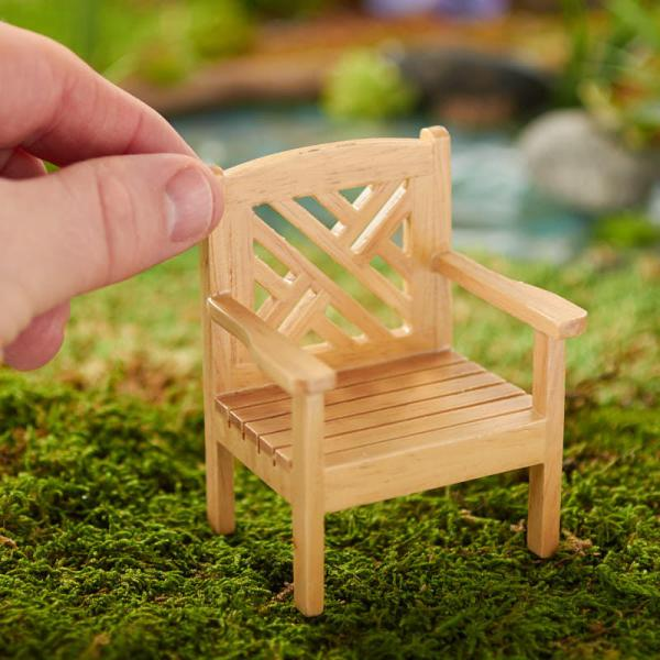 dollhouse miniature garden chair