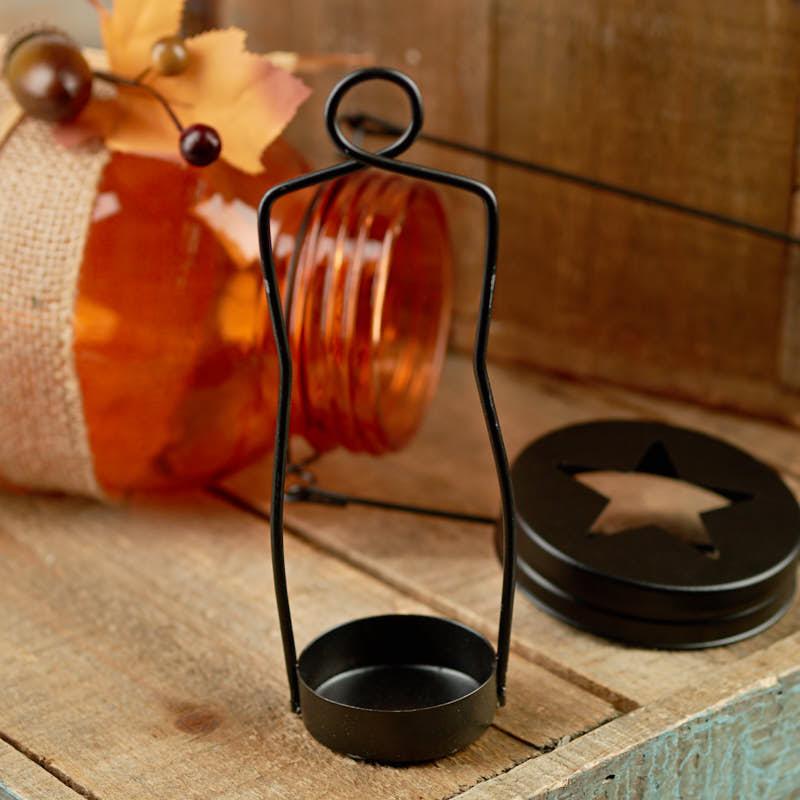 Fall Harvest Mason Jar Tea Light Candle Holder Candles