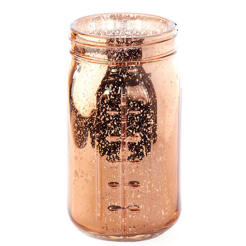 Large Copper Mercury Glass Mason Jar  Jar Lids  Basic