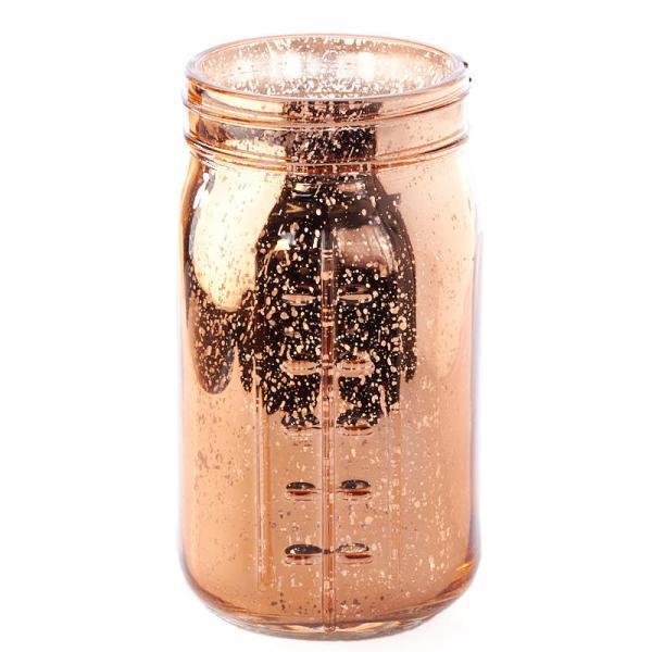 Large Copper Mercury Glass Mason Jar - Lids Basic
